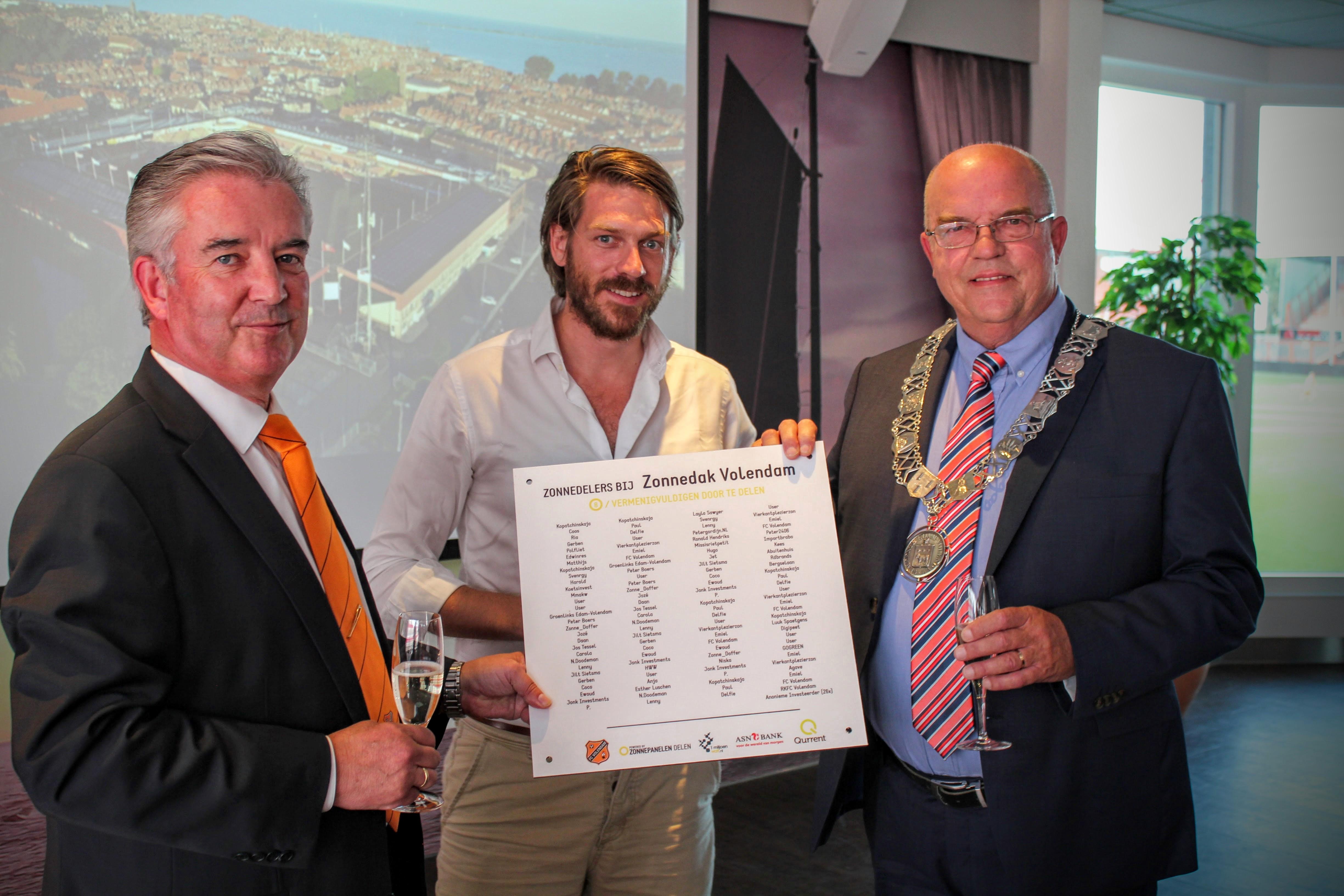 ASN Bank completeert financiering Zonnedak Volendam