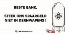 Belgische banken investeren nog steeds miljoenen in kernwapens
