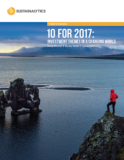 Sustainalytics' New Research Report Presents 10 ESG Investment Themes for 2017