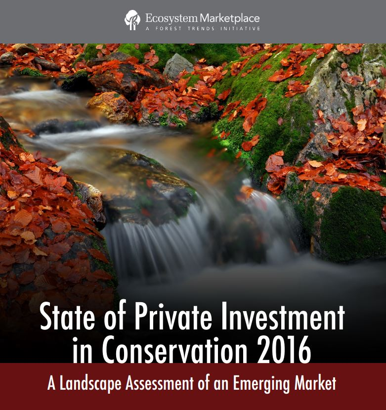 Private Investment in Conservation Reaches $8.2 Billion