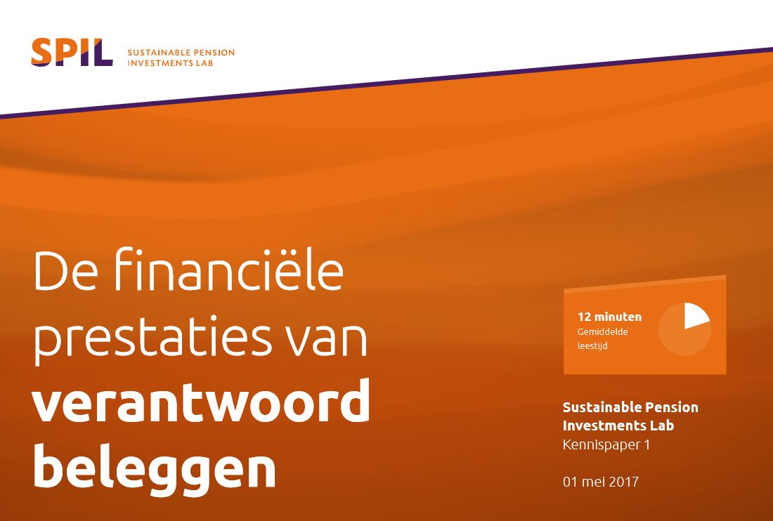 """SPIL publiceert kennispaper: """"Het financiële rendement van verantwoord beleggen"""""""