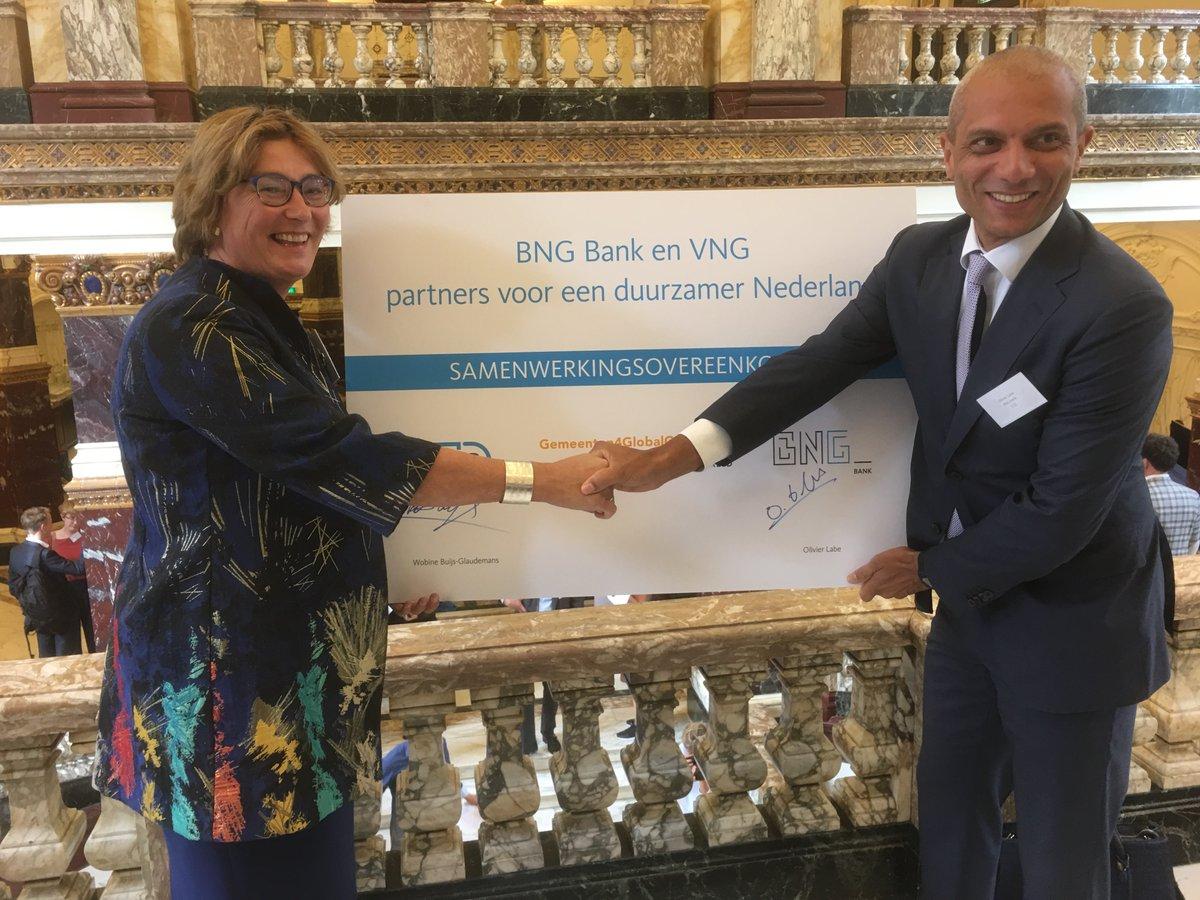 VNG en BNG Bank werken samen aan invulling Global Goals door gemeenten