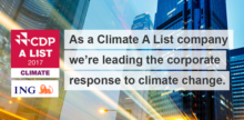 ING recognised for leadership on climate action