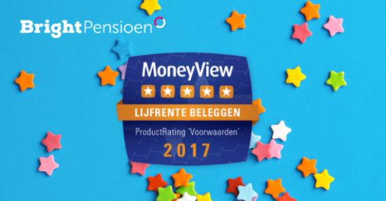 MoneyView geeft BrightPensioen de hoogste waardering