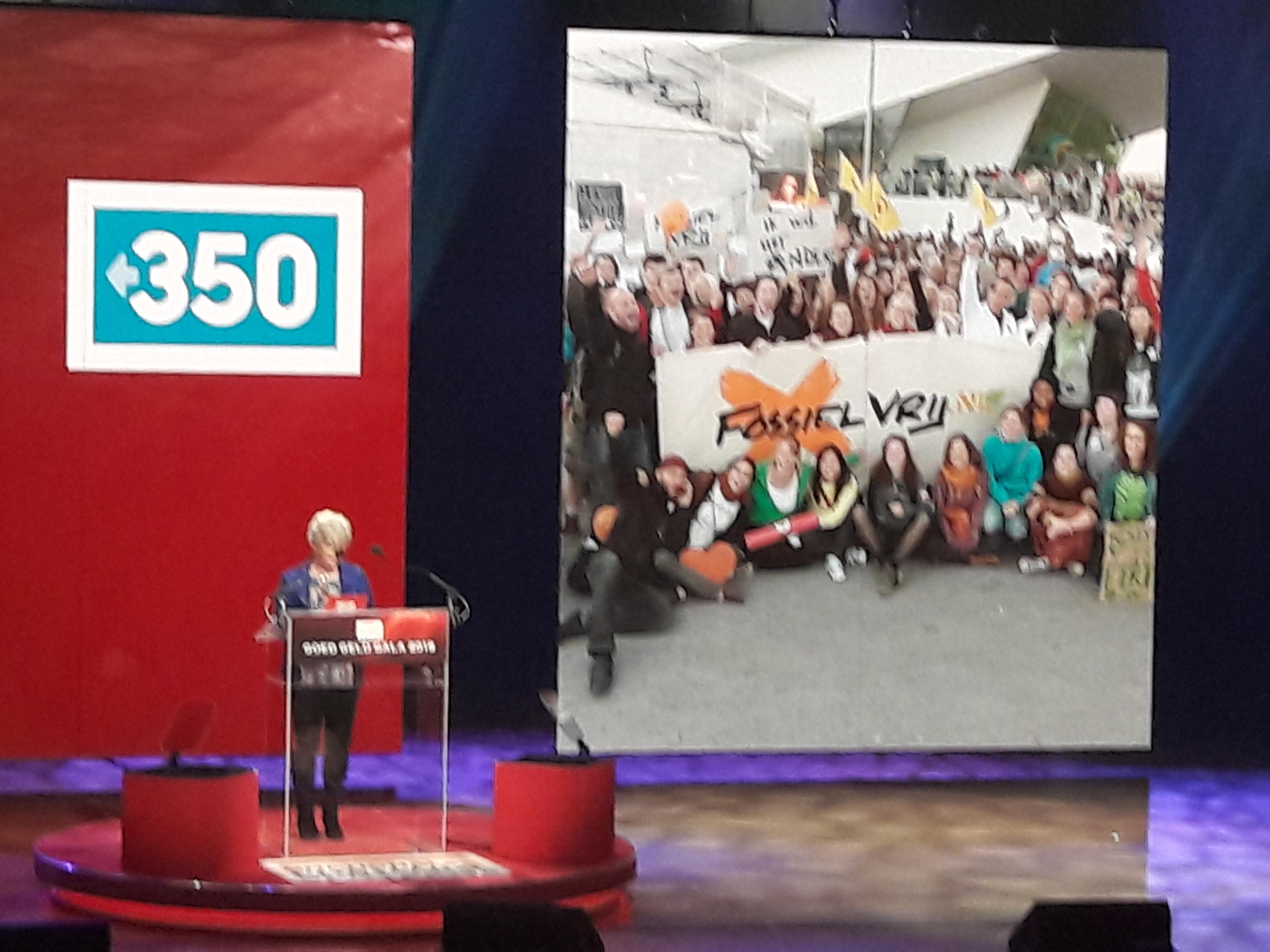 350.org/Fossielvrij NL ontvangt 1 miljoen euro van Postcode Loterij