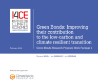 Report 'Green Bonds: Improving their contribution to the low-carbon and climate resilient transition'