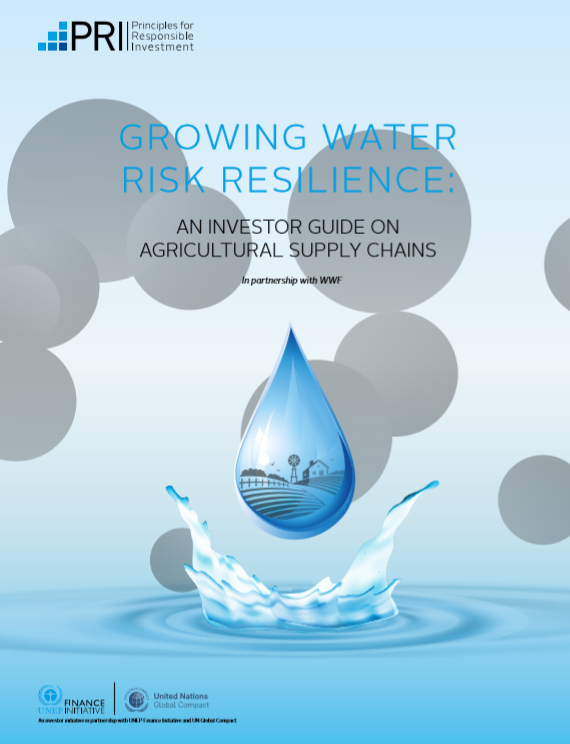 The PRI, WWF publish new report on water risks in the supply chain