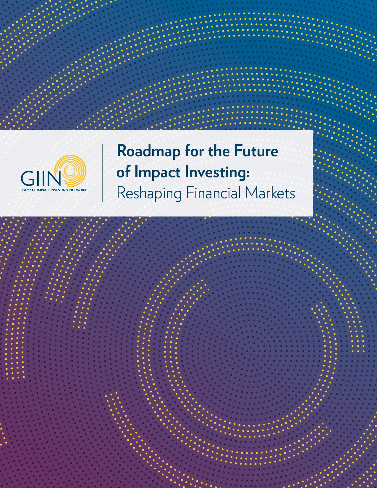 Global Impact Investing Network Launches Roadmap For The Future Of Impact Investing