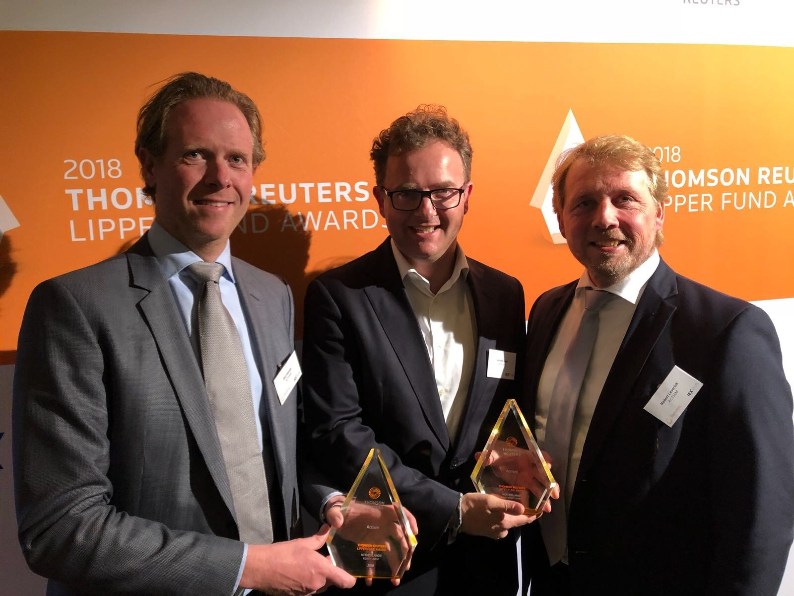 Wederom twee Thomson Reuters Lipper Fund Awards voor ACTIAM Lipper Group Awards voor 'Equity Large' en 'Mixed Assets Large'
