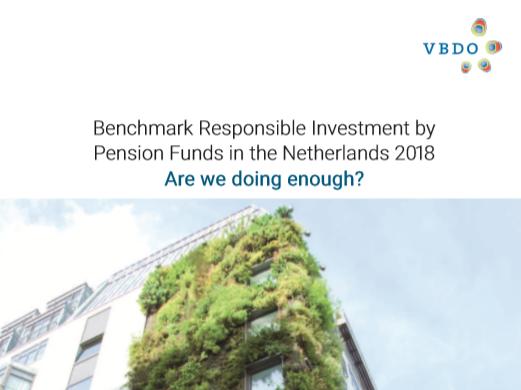 ABP winnaar VBDO Benchmark verantwoord beleggen pensioenfondsen