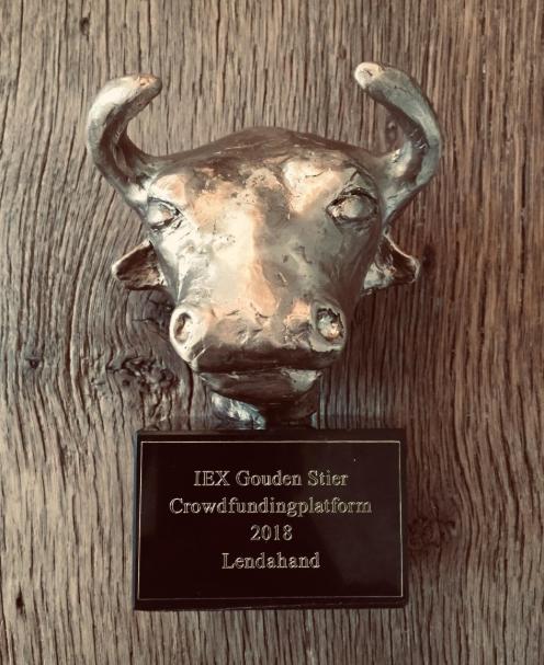 Lendahand winnaar IEX Gouden Stier 2018