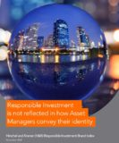 Responsible Investment is not reflected in how Asset Managers convey their identity