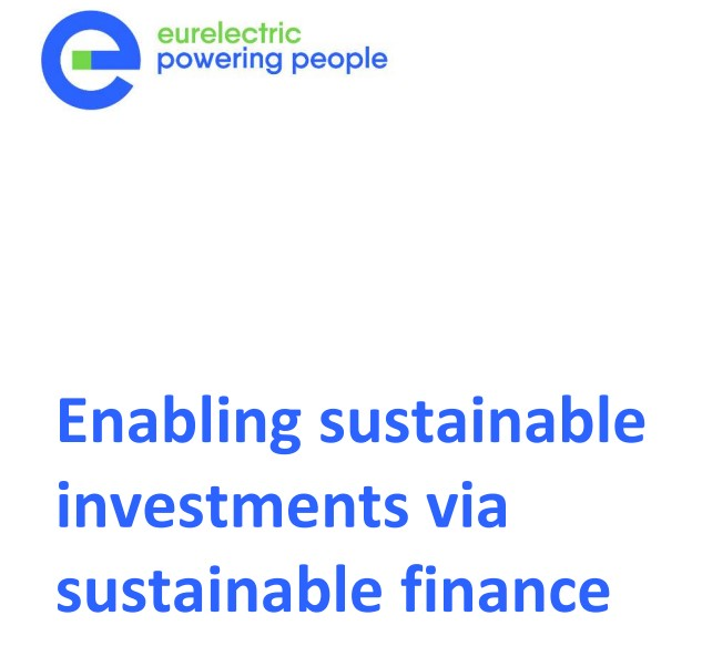 European Electricity Industry issues paper: 'Enabling sustainable investments via sustainable finance'