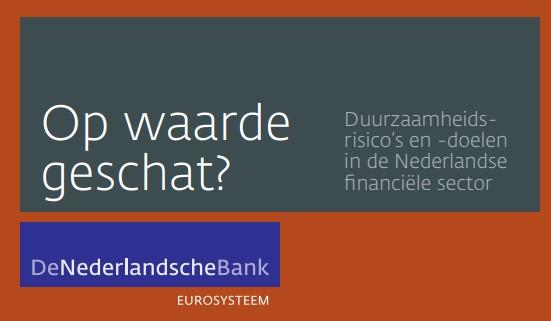 DNB: financiële instellingen moeten duurzaamheid verder integreren in de bedrijfsvoering.