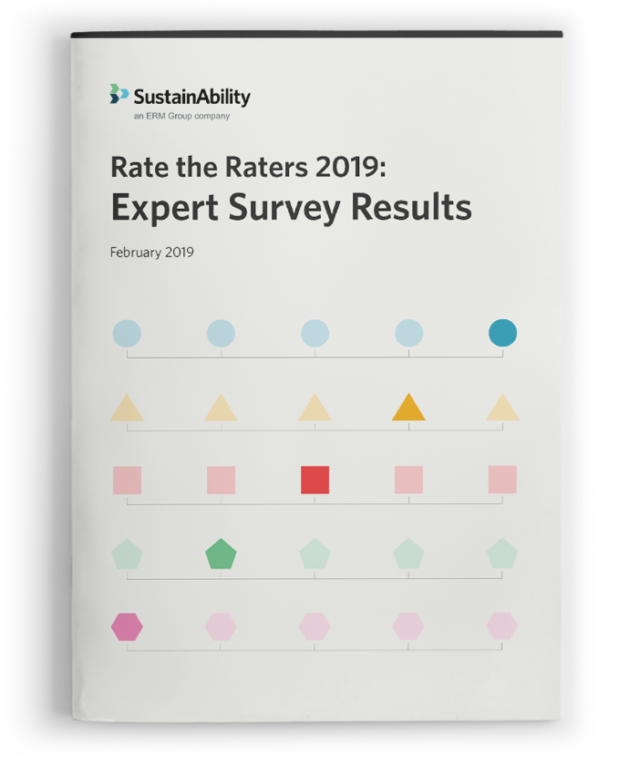 Rate the ESG Raters 2019 report