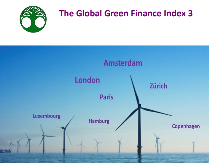 Amsterdam and London continue to lead the latest global rankings of green financial centres