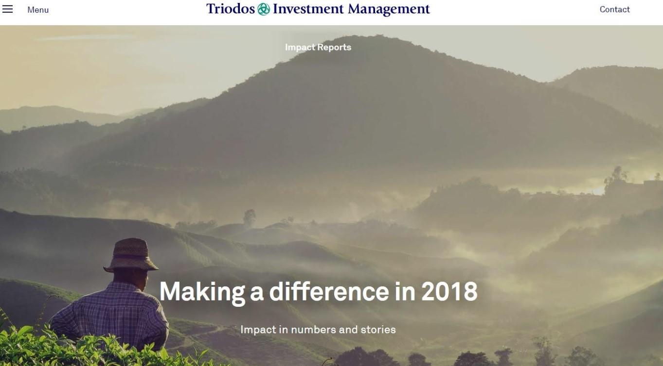 Triodos Investment Management publiceert 2018 Impact Reports