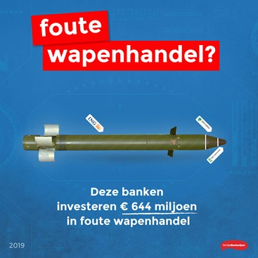 Eerlijke Bankwijzer: ING, ABN Amro en Van Lanschot investeren nog steeds in foute wapenleveranciers