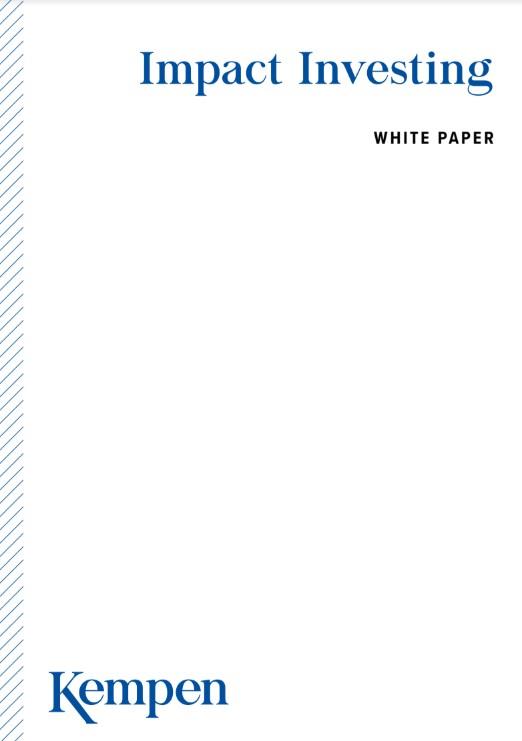 Kempen publiceert whitepaper over impact investing