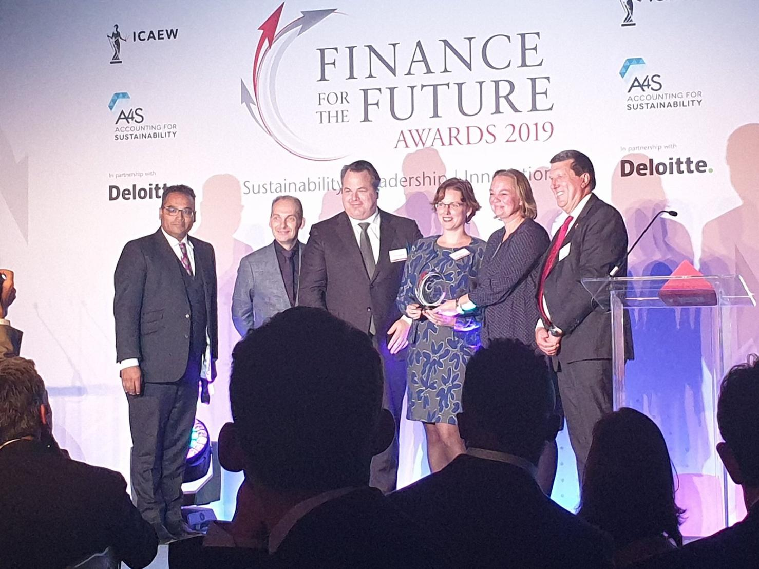 ABN AMRO wint Finance for the Future Award