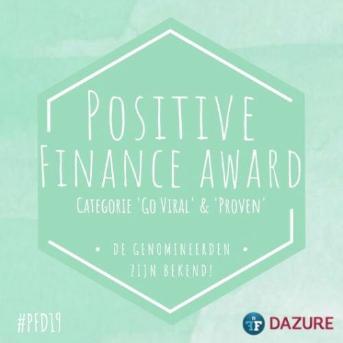 Bright Pensioen, PCAF, Phenix Capital, Perfect Day en BLG genomineerd voor Positive Finance Award