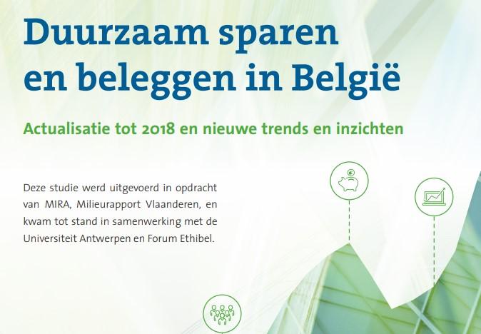 Groei in omvang duurzaam beleggen en privaat bankieren in België in 2018 verder doorgezet
