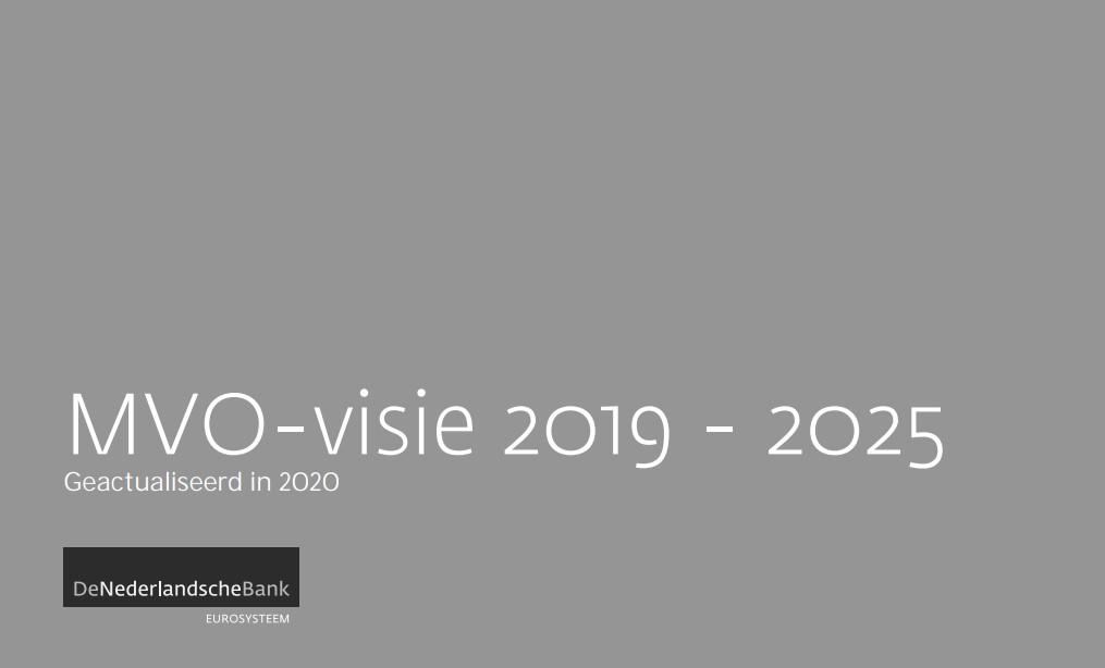 DNB publiceert MVO-visie 2020