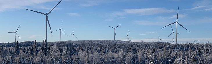 Zweeds megawindpark van ABP start met leveren duurzame energie