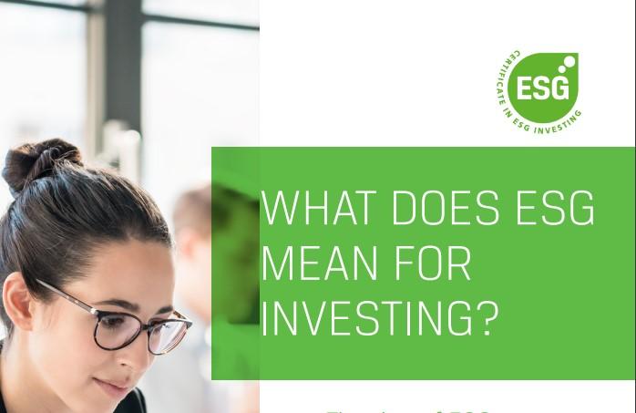 CFA Society VBA Netherlands kondigt de introductie aan van een nieuwe certificering voor ESG beleggen