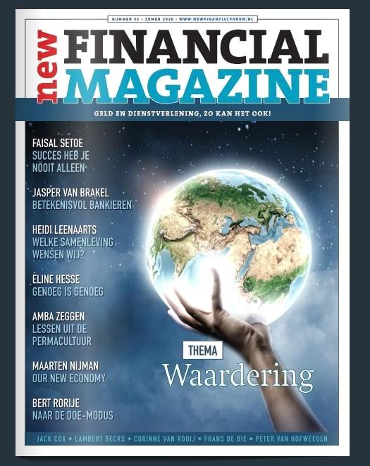 'Waardering' centraal in zomereditie New Financial Magazine
