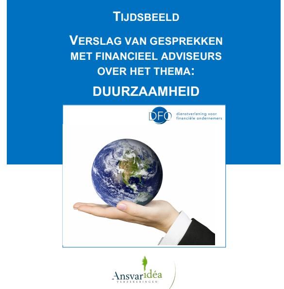 Rapport Bureau DFO: Financieel adviseur kan aanjager worden op gebied van duurzaamheidsmaatregelen