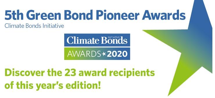 Nederlands agentschap DSTA en Obvion winnaars 5th Green Bond Pionier Awards