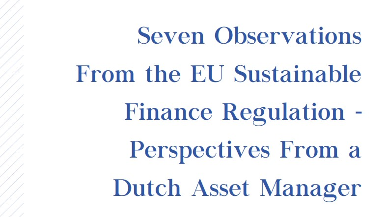 Kempen publishes a white paper with seven observations from the EU Sustainable Finance Regulation
