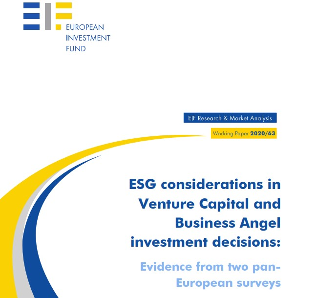 ESG investing appears to be accelerating into the investment mainstream of venture investors