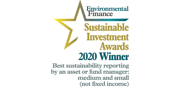 Triodos IM winner EF Sustainable Investment Awards 2020 for sustainability reporting