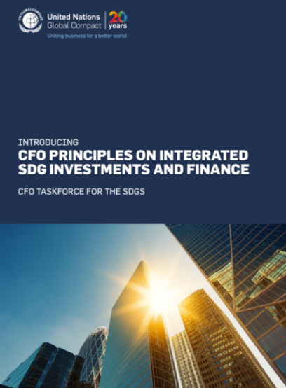 UN Global Compact CFO Taskforce launches Principles for Integrated SDG Investments and Finance