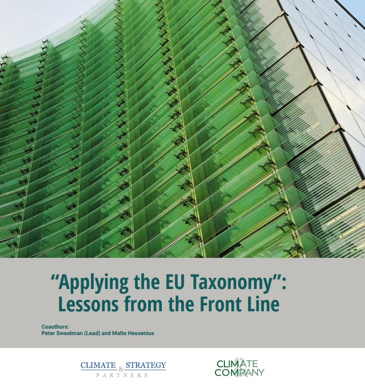 Applying the EU Taxonomy - lessons from the front line