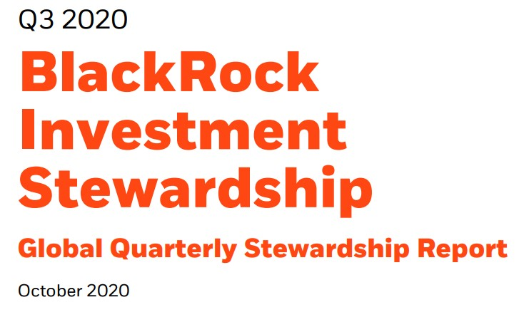 BlackRock publishes Q3 Global Investment Stewardship-rapport: more companies are transparant about sustainability