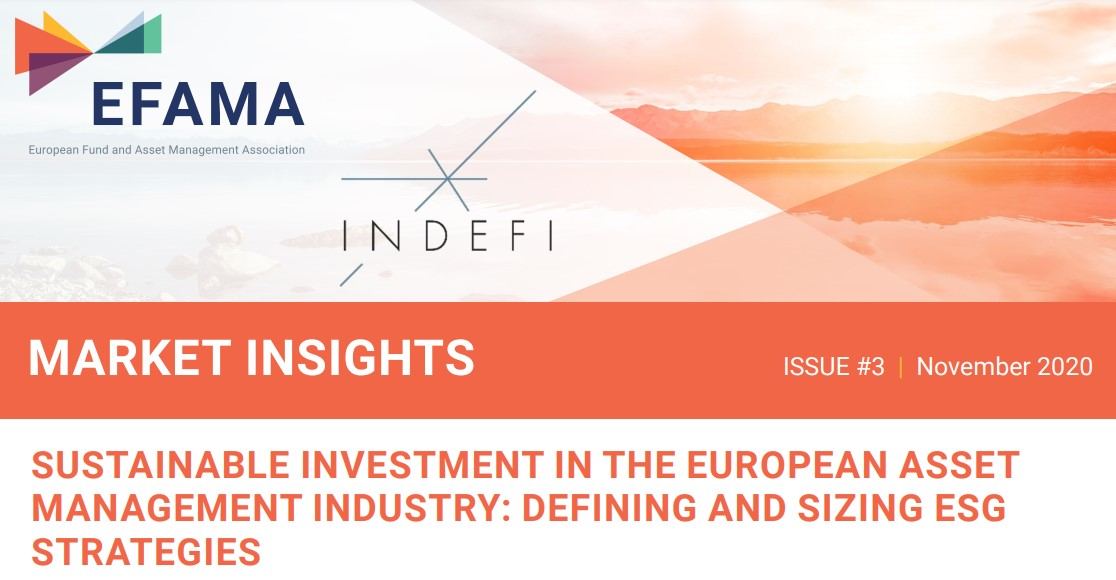 EFAMA publishes report on the level and nature of sustainable investment by the European asset management industry