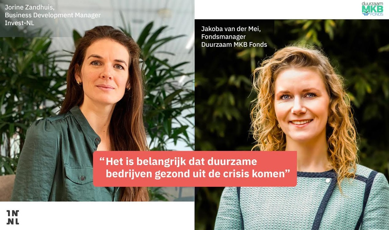 Duurzaam MKB Fonds en Invest-NL helpen duurzame ondernemers tijdens de coronacrisis