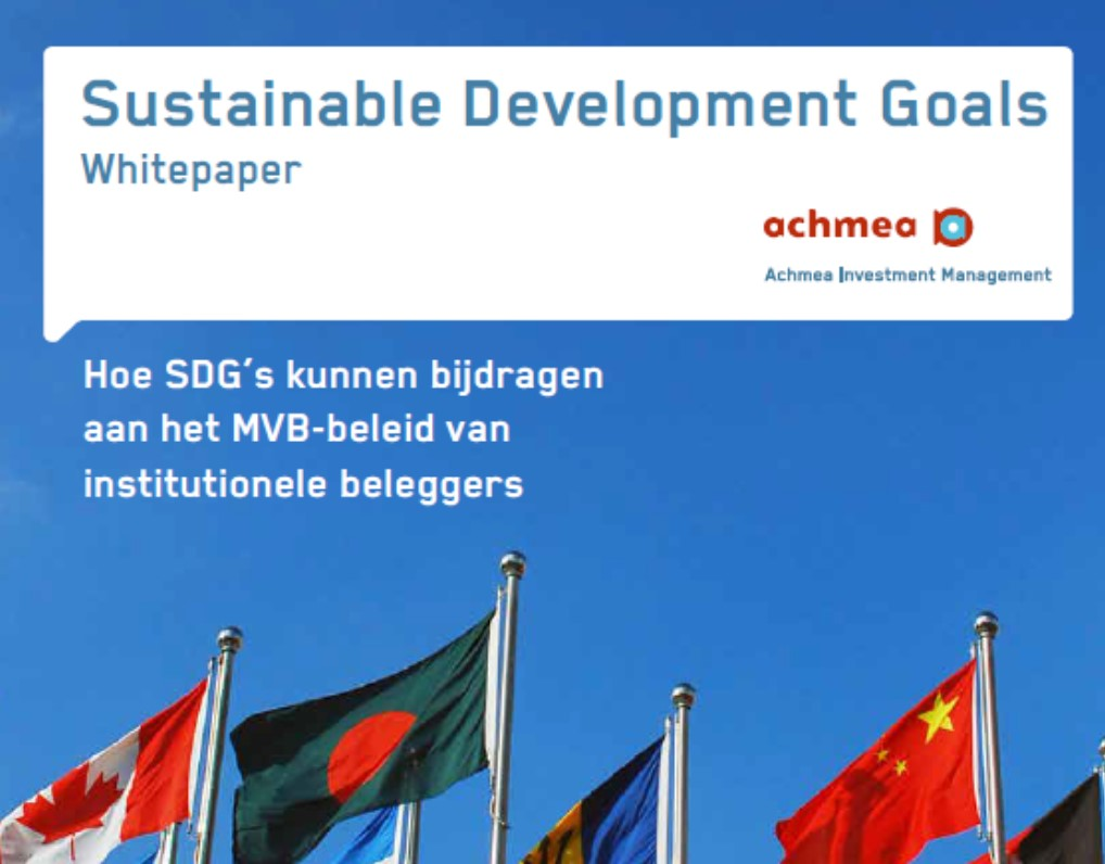Hoe SDG's kunnen bijdragen aan MVB-beleid van institutionele beleggers