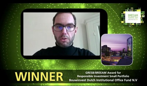 Bouwinvest Office Fund wint GRESB/BREEAM Award for Responsible Investment
