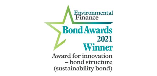 Award for innovation - bond structure (sustainability bond): Rabobank