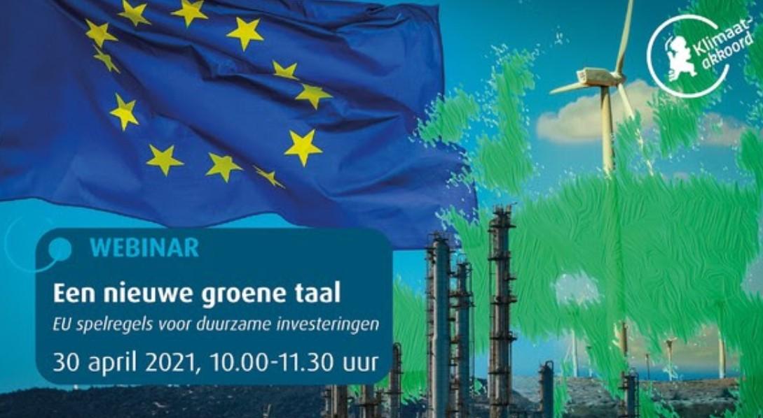 Webinar 'EU-spelregels voor duurzame investeringen'