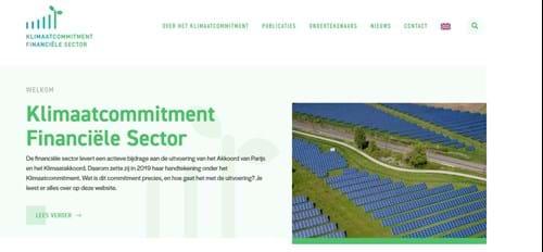 Financiële sector lanceert klimaatwebsite