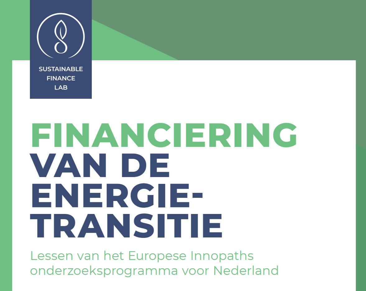 Publicatie resultaten onderzoek financiering van de energietransitie