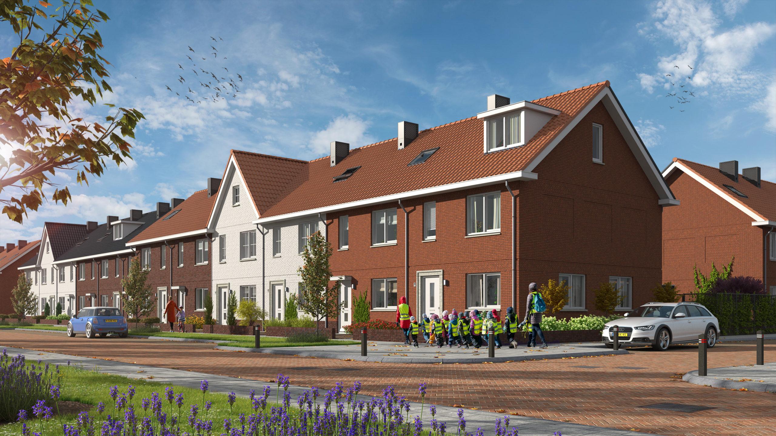 Eerste fase huurwoningen buitengebied Mortiere opgeleverd aan Groenwoningen Fonds van Credit Linked Beheer