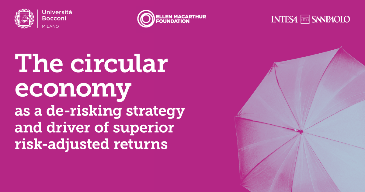 New research shows circular economy strategies can reduce investment risk