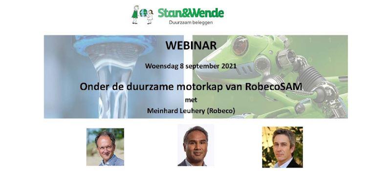Geslaagd webinar 'Samen onder de duurzame motorkap van RobecoSAM'